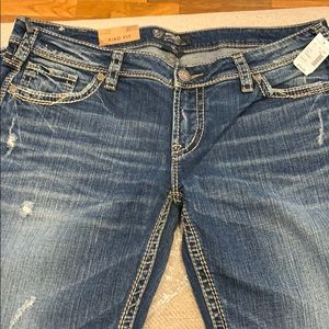 New Aiko silver jeans